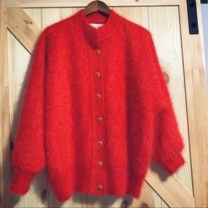 Holy Vintage SUPER Fuzzy Fully Lined Retro Sweater